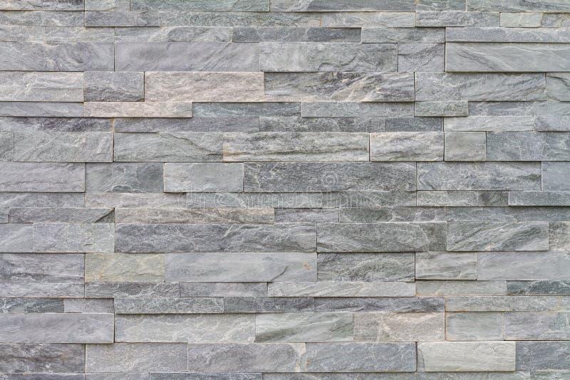 装饰板岩石墙表面的样式 图库摄影