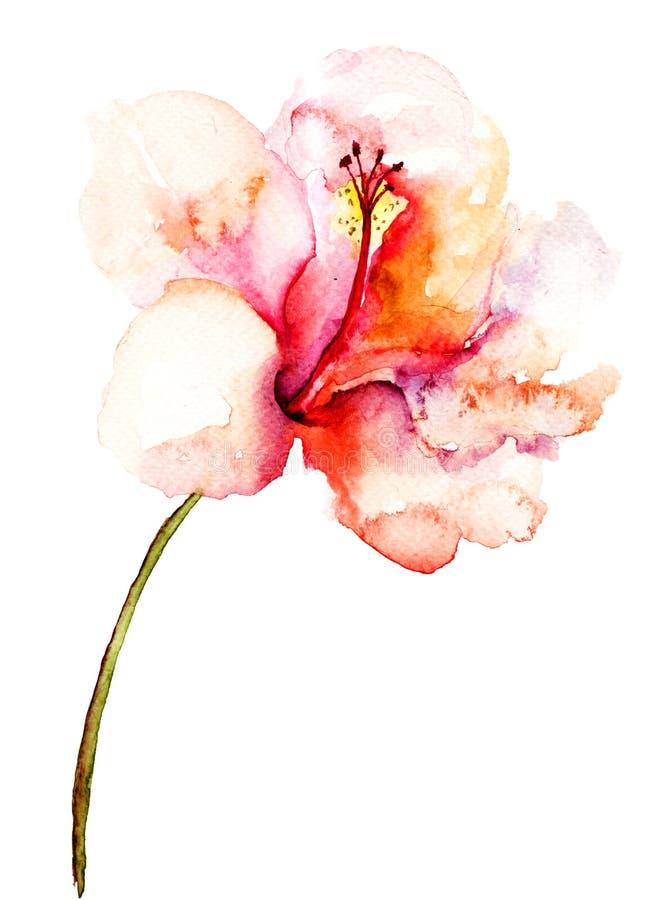 装饰桃红色花 向量例证