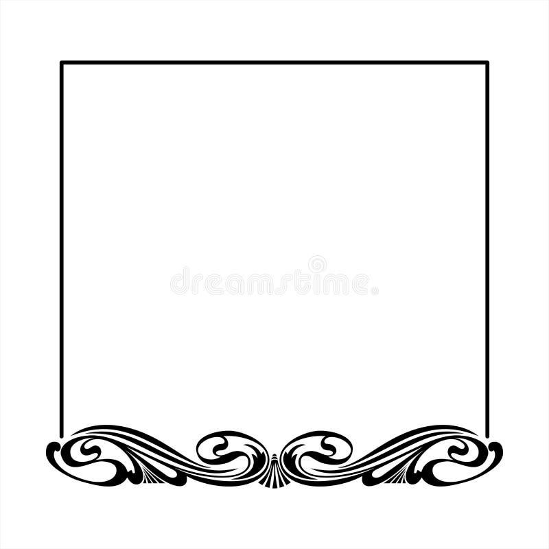 装饰框架正方形 库存照片