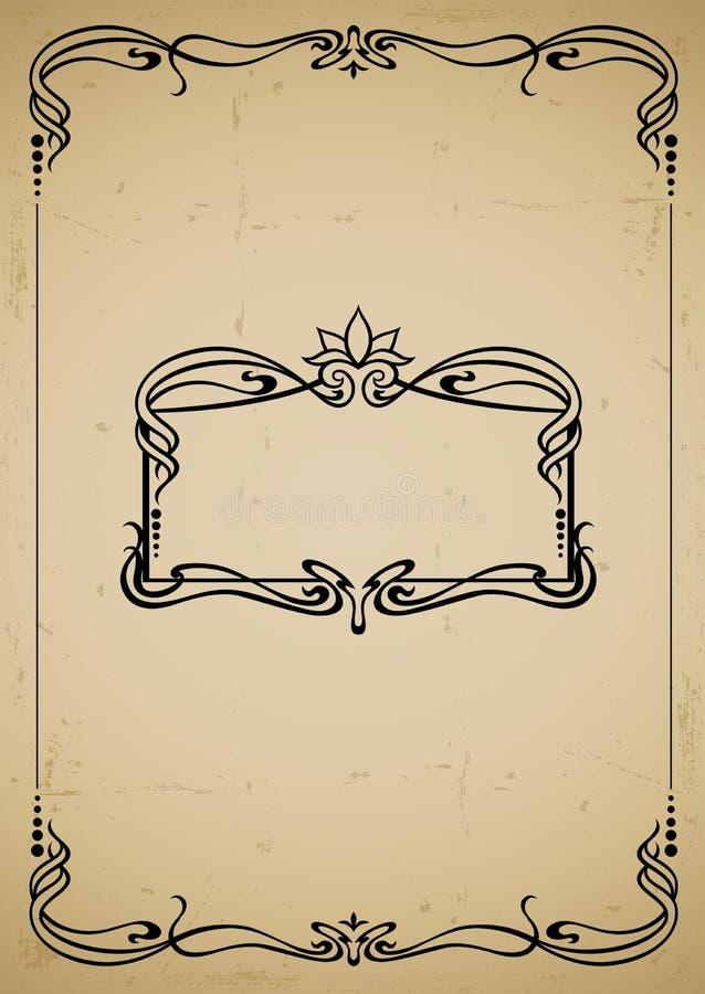 装饰框架葡萄酒 库存例证