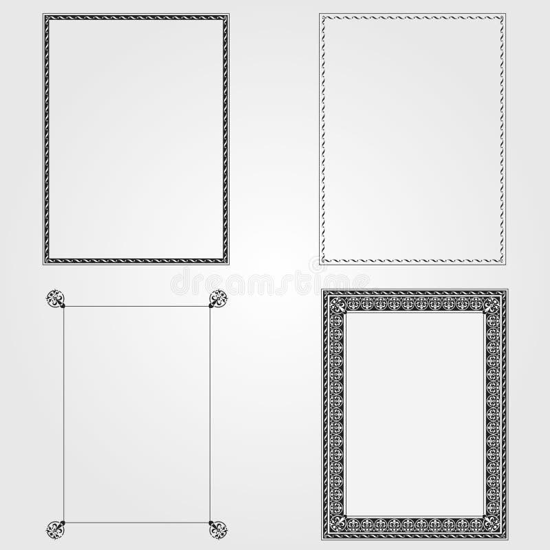 装饰框架装饰物向量 向量例证