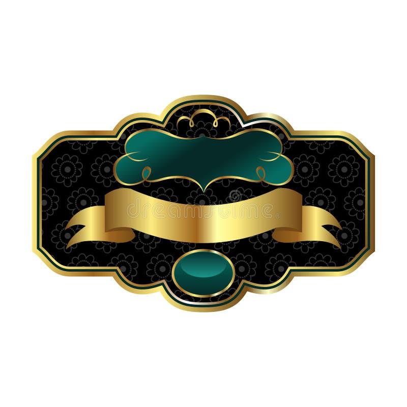 装饰框架金黄华丽 皇族释放例证