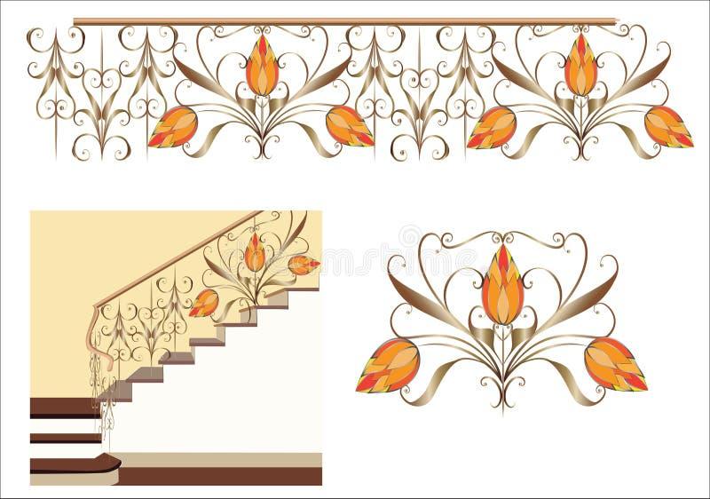 装饰楼梯 免版税图库摄影