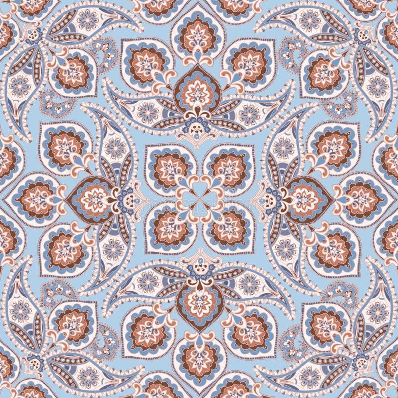 装饰模式 花卉几何orienal装饰品 图库摄影