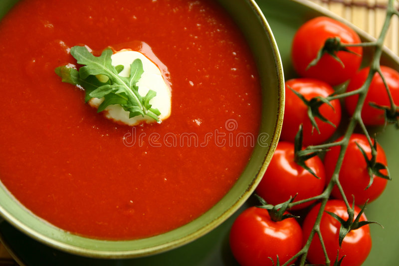 装饰汤蕃茄 免版税图库摄影