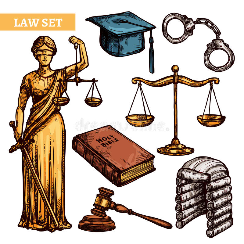 装饰法律集合 向量例证