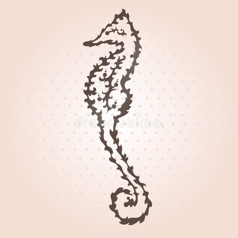 装饰海象 皇族释放例证