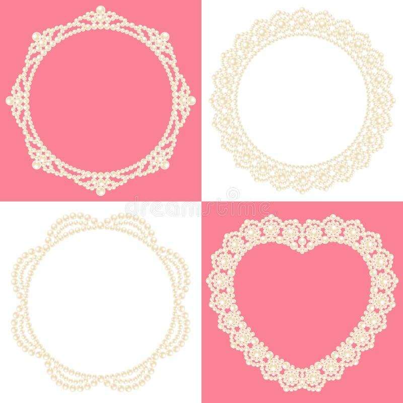 装饰珍珠 向量例证