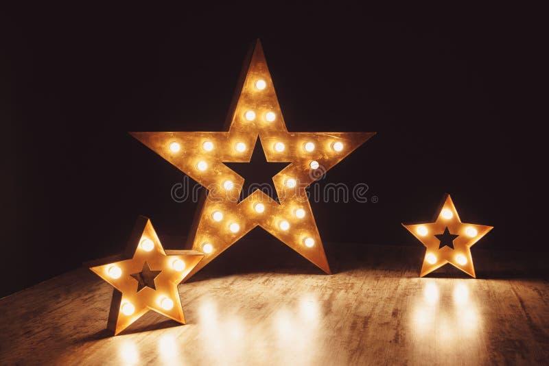装饰的元素以星的形式 库存图片