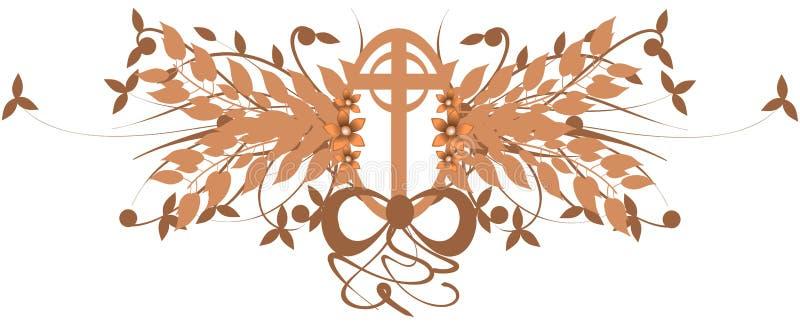 装饰的十字架 库存例证