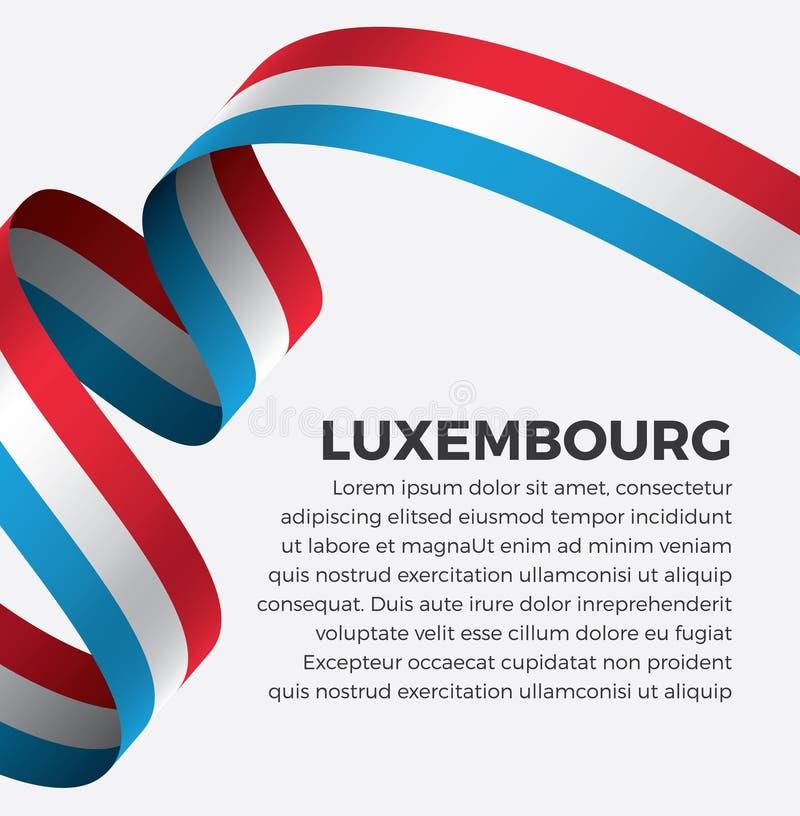 装饰的卢森堡旗子 向量背景 图库摄影