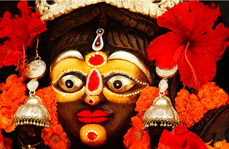 装饰的印地安上帝的神象 库存图片