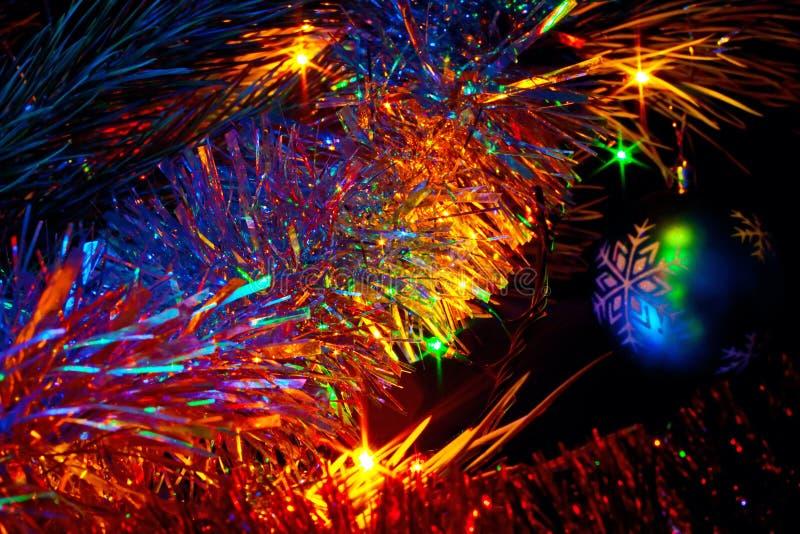 装饰的圣诞树 免版税库存照片