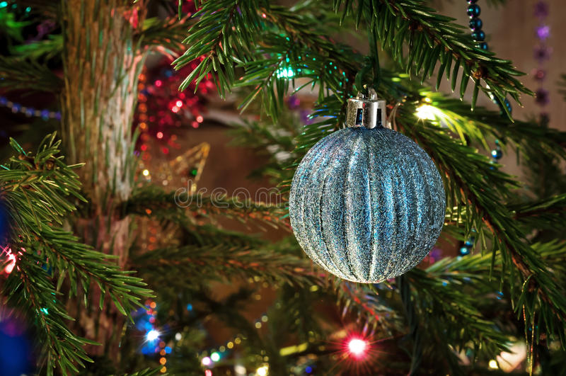 装饰的圣诞树 免版税图库摄影