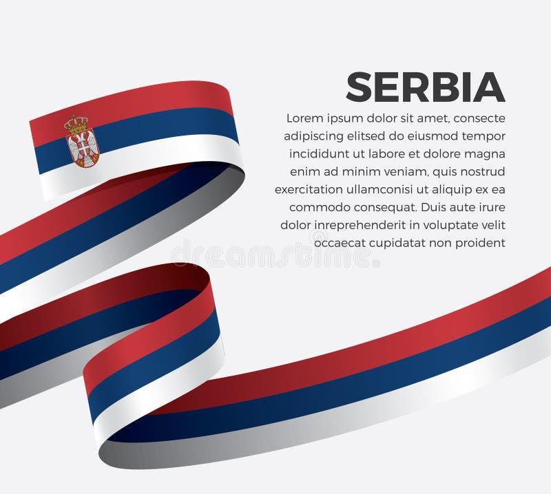 装饰的塞尔维亚旗子 向量背景 皇族释放例证