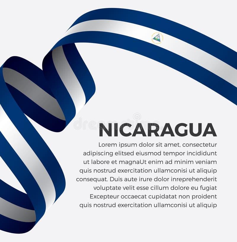 装饰的尼加拉瓜旗子 向量背景 库存照片