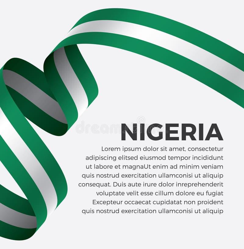 装饰的尼日利亚旗子 向量背景 免版税库存图片