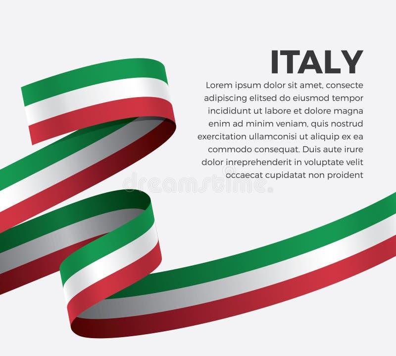 装饰的意大利旗子 向量背景 库存例证