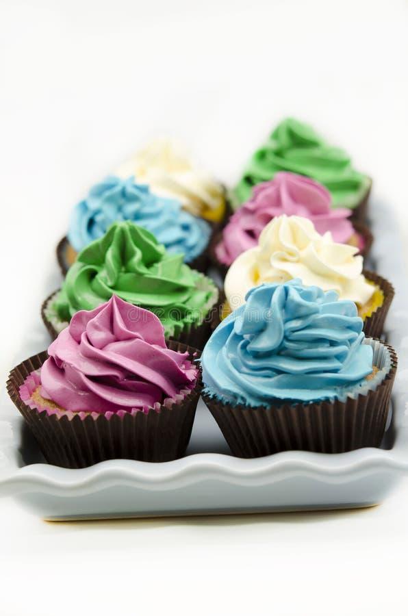 装饰的杯形蛋糕 免版税库存照片