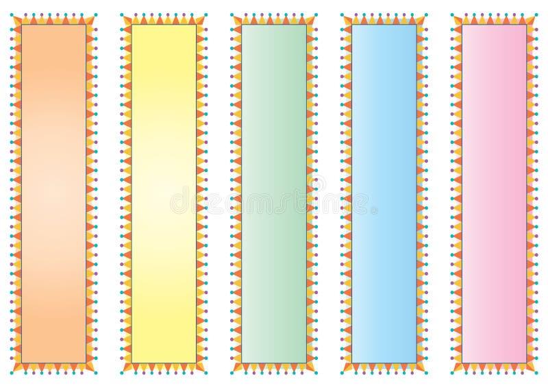装饰的横幅五颜六色 库存例证