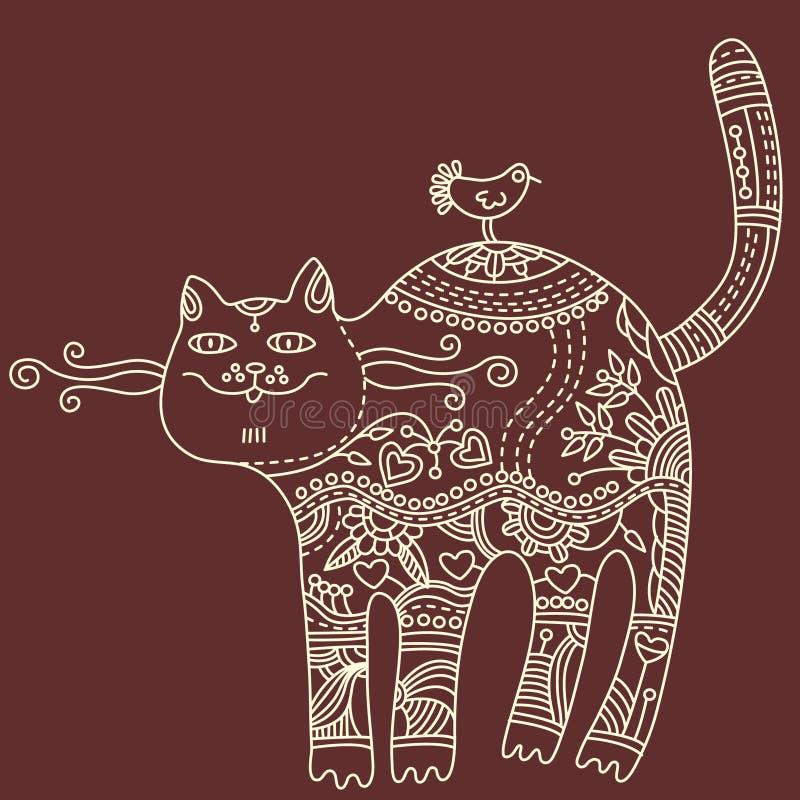 装饰的猫 库存例证