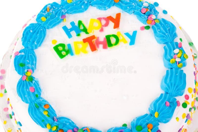 装饰的生日蛋糕 免版税库存照片