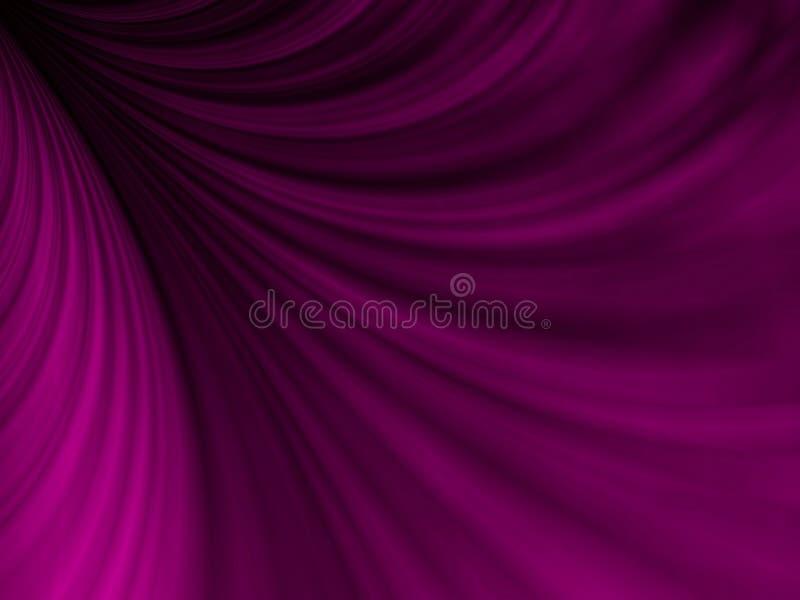 装饰的织品紫色swoosh 皇族释放例证