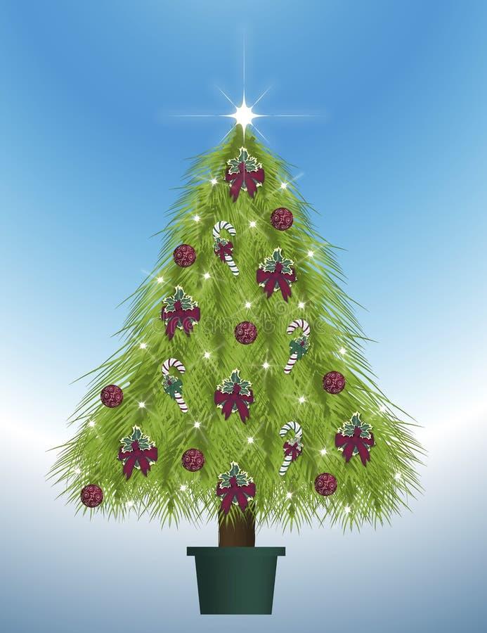 装饰的结构树 向量例证