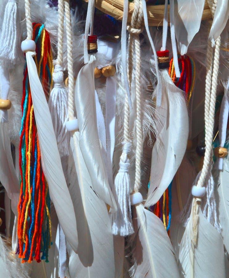 装饰的羽毛在阳光下 图库摄影