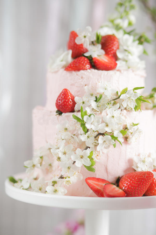 装饰的蛋糕 免版税图库摄影