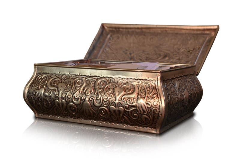 装饰的金属照片箱子珍宝solated开放 图库摄影