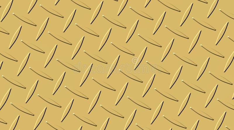 装饰的铜金属表面 金属铆牢样式 金黄抽象的背景 皇族释放例证