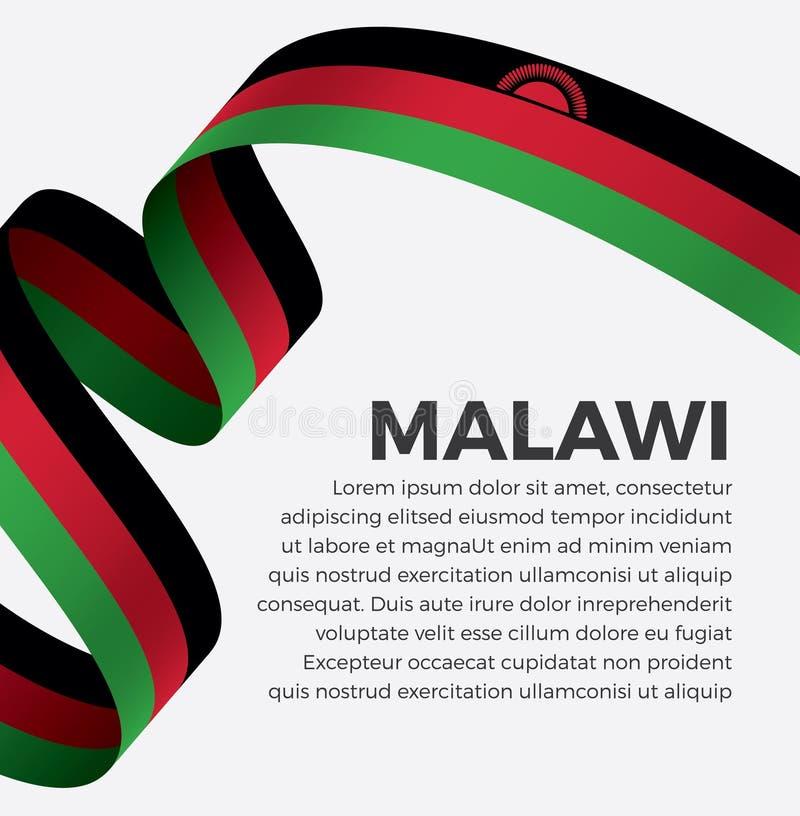 装饰的马拉维旗子 向量背景 免版税库存照片
