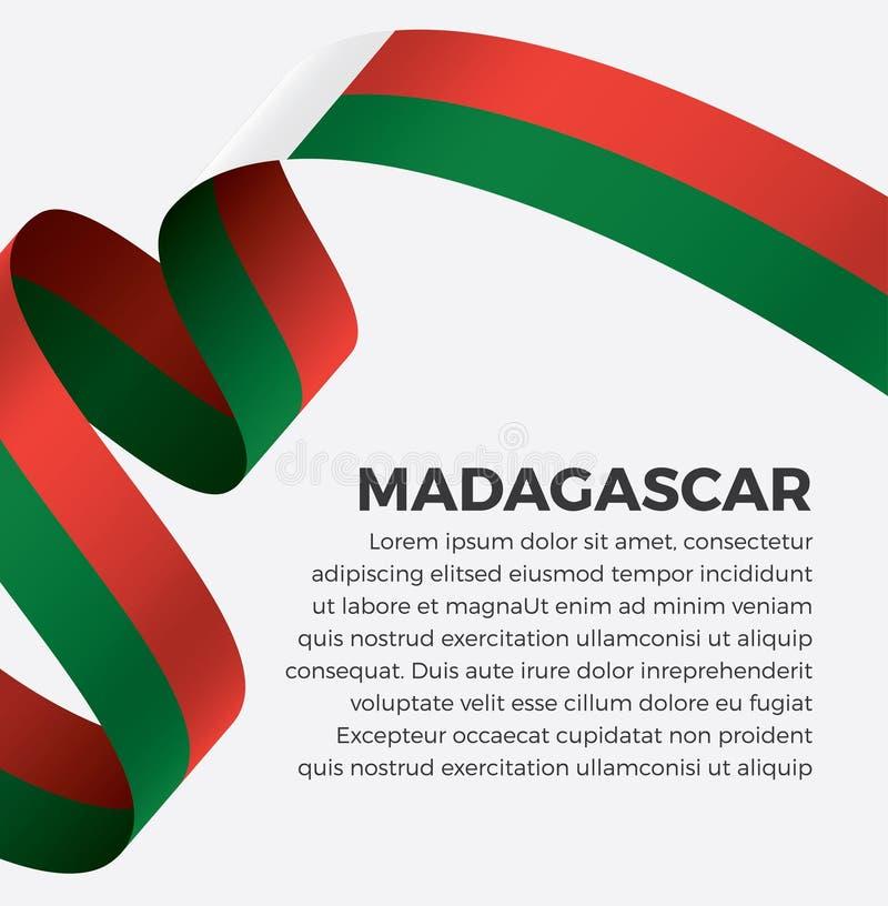 装饰的马达加斯加旗子 向量背景 免版税库存照片