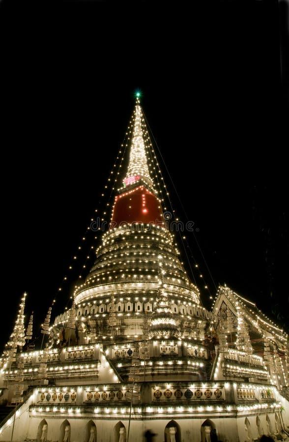 装饰的stupa泰国 免版税库存照片