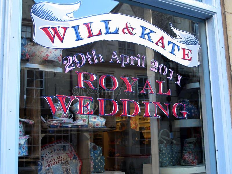 装饰皇家婚礼视窗 免版税库存照片