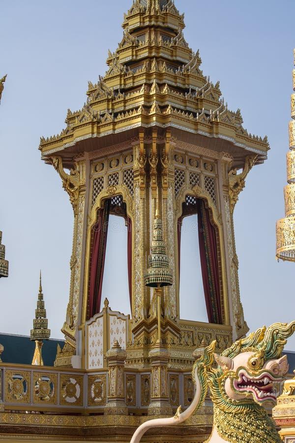 装饰皇家火葬仪式的一个火葬场 免版税库存照片