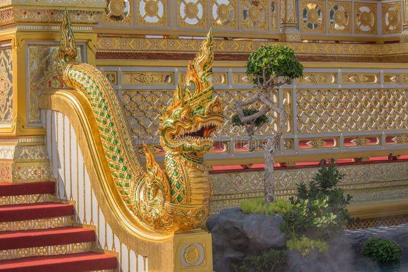 装饰皇家火葬仪式的一个火葬场 图库摄影