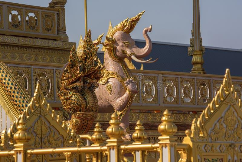 装饰皇家火葬仪式的一个火葬场 免版税库存图片