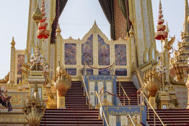 装饰皇家火葬仪式的一个火葬场 库存照片