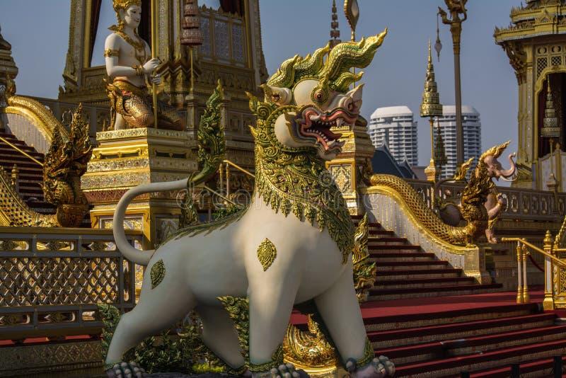 装饰皇家火葬仪式的一个火葬场 免版税图库摄影