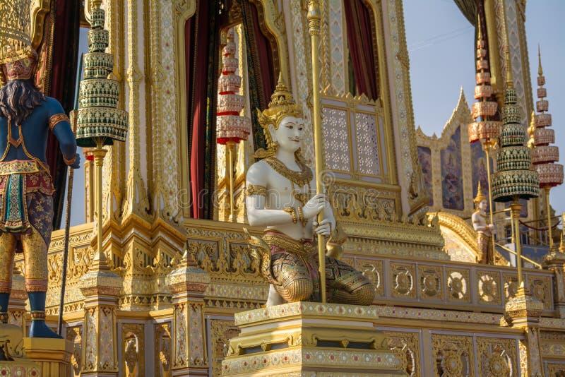 装饰皇家火葬仪式的一个火葬场 库存图片