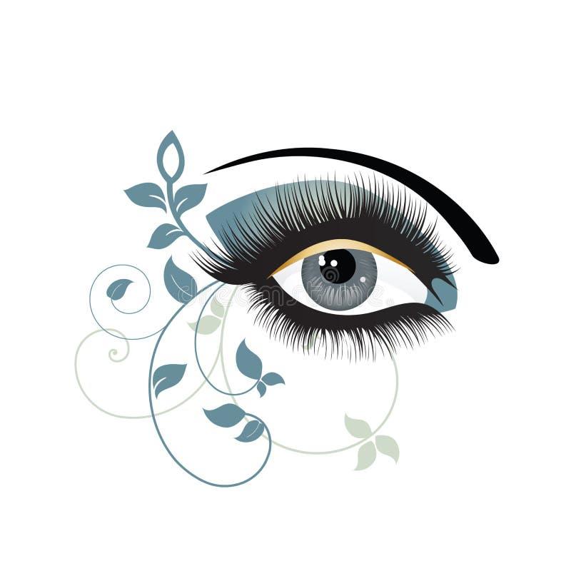 装饰眼睛 皇族释放例证