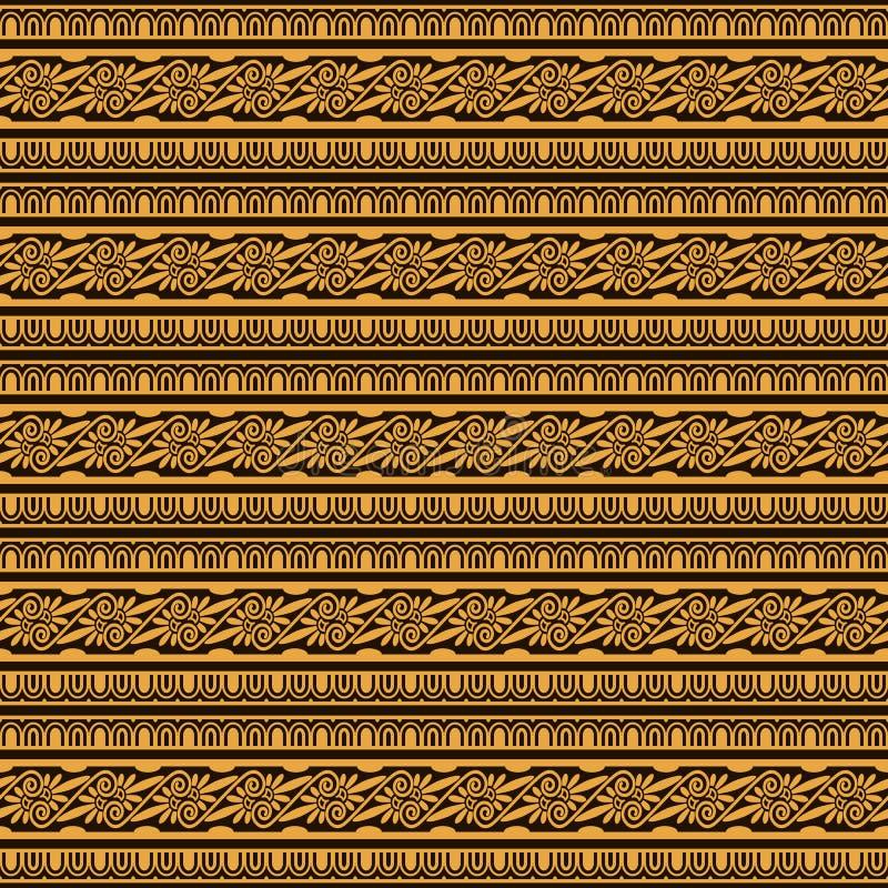 装饰种族花卉条纹图形 向量例证