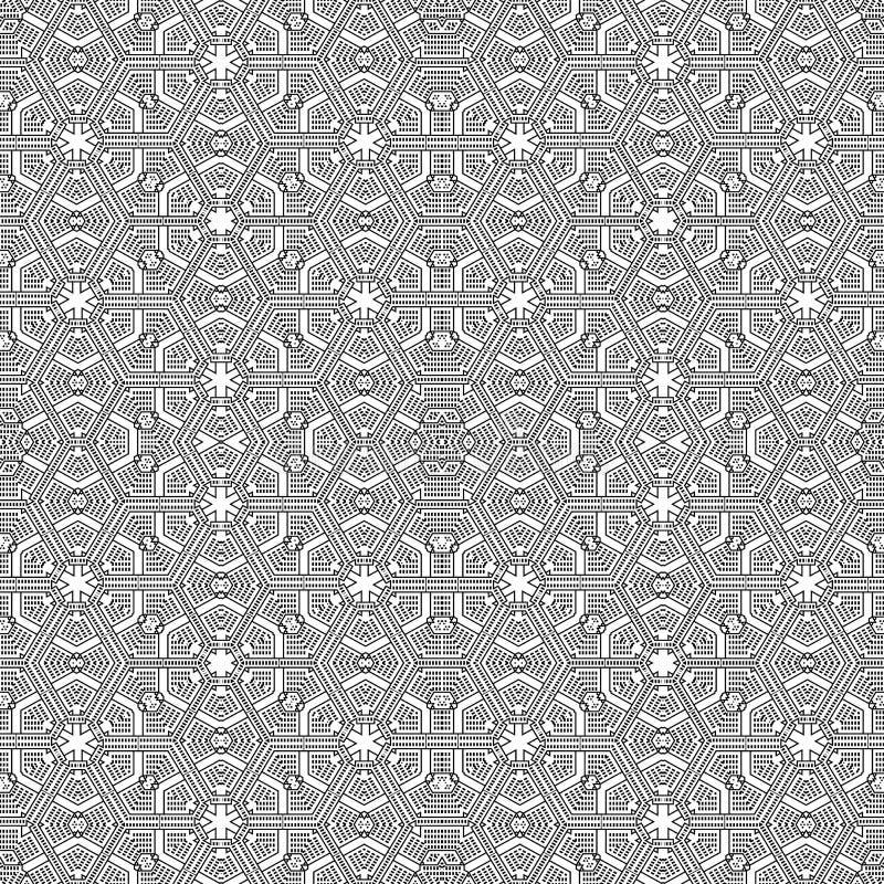 装饰线性样式 8可用详细容易编辑eps格式例证层分隔的向量 无缝的黑白纹理 坛场设计元素 皇族释放例证
