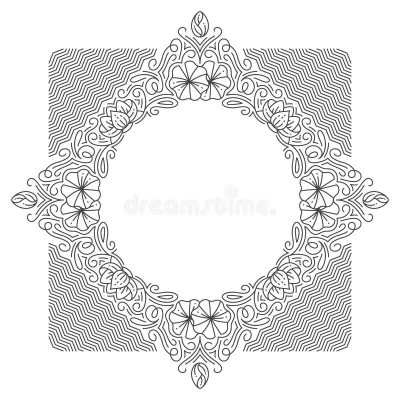 装饰线背景, monoline样式 皇族释放例证
