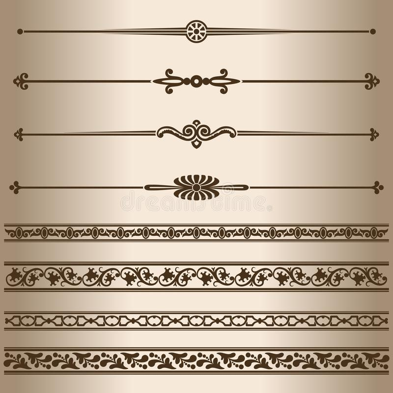 装饰线路 皇族释放例证