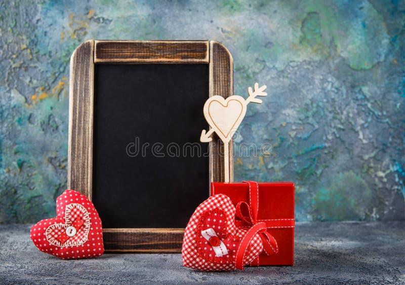 装饰织品心脏为情人节 库存照片