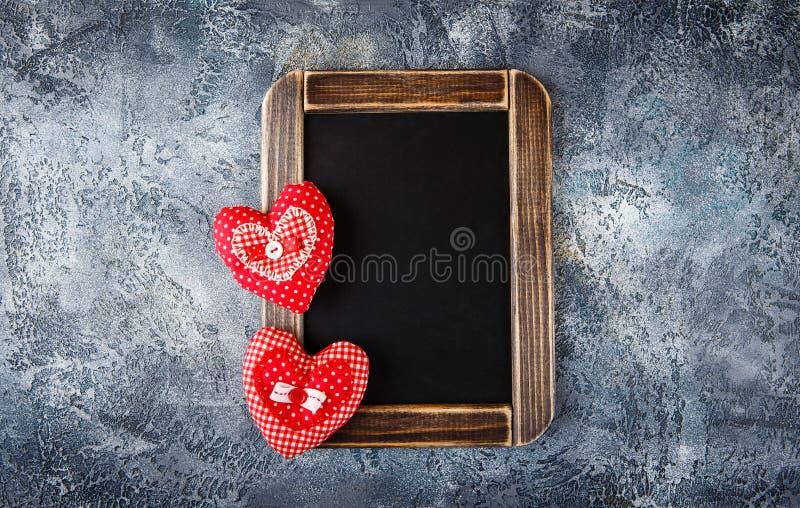 装饰织品心脏为情人节 免版税库存图片