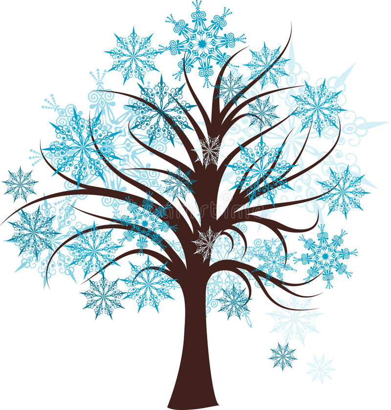 装饰结构树冬天 库存例证